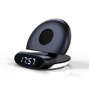 Alarm Clock WiFi Hide Camera and Phone Stand 1080P Security Cameras with Wireless Charging Stand (wc005bc)