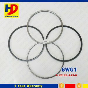 6wg1 Isuzu Engine Set Piston Ring for Excavator Parts with Cast Iron (1-12121-143-0)