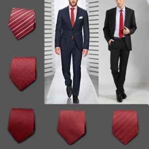 Jacquard Maroon Neckties 5cm, 100% Silk Fabric for Tie (A019)