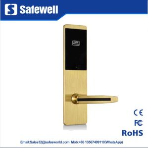 Wire Drawing Zinc Alloy Four Color Hotel Door Lock pictures & photos