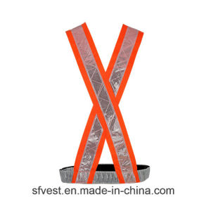 100% Polyester Hi Vis Safety Reflective Vest PVC Tape Safety Belt for Traffic or Riding