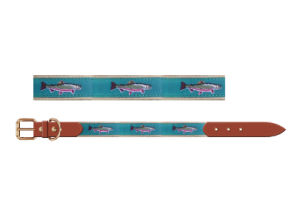 Fish Webbing Real Leather Dog Collar, Pet Products Supply pictures & photos