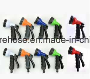 Ebay Elastic Hose Blue Lightweight Expandable Garden Hose + 8 Function Spray Nozzle pictures & photos