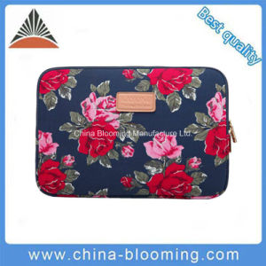 Fashion Lady Flower Print 600d Polyester 11inch Laptop Sleeve Bag pictures & photos