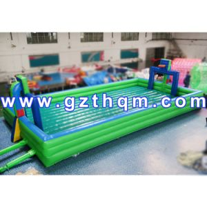 High Quality Inflatable Football Pitch/Inflatable Soap Football Field pictures & photos