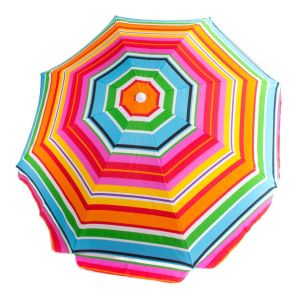New Style, New Design, Stripe, Colorful, Tiltable, Beach Umbrella
