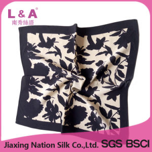 Women Pure Silk Square Scarf