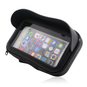 5.5inch 6.0inch Sport Zipper Waterproof Motorcycle Pouch Mobile Phone Case Handlebar Bag with Sun Visor for iPhone 7 6s Plus Samsung Huawei pictures & photos