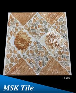 "12X12"" 5D Polished Crystal Pebbles Floor Tile 1307"