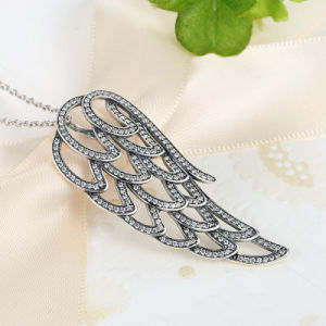 925 Sterling Silver Angel Wing, Clear CZ Necklaces Jewelry pictures & photos