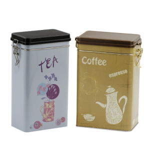 Coffee Tin Box with Plastic Airtight Lid pictures & photos