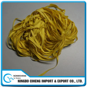 Flat Wide Elastic Coloured Yellow Rubber Bands for Stretching pictures & photos