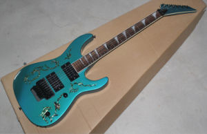 Hanhai Music/Blue Electric Guitar with Colorful Inlay on Body (SL-2) pictures & photos