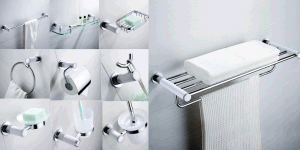 China Simple Classical White Bathroom Accessories Set Towel Cup