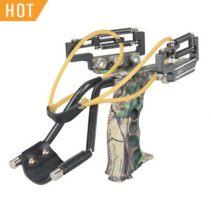 Outdoor Shooting and Hunting High-Grade Aluminum Magnesium Alloy Hunting Calapult Sling Shot with Wrist Bracers pictures & photos