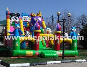 Inflatable Jungle Zoo Fun City for Amusement Park