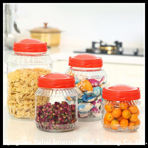 Set Clear Straight Jar with Plastic Lid pictures & photos