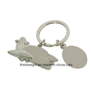 Promotion Metal Fashion Airplane Keyring with Client Printing Logo (F1316B)
