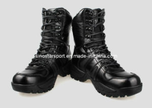 High Quality Fashion Men′s Leather Combat Army Boots (HLA18)
