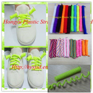 Spiral Elastic Shoelace / Curly Lace pictures & photos