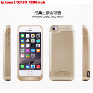 for iPhone5/5s/5c External Battery Case 4200mAh Rechargeable Mobile Charger