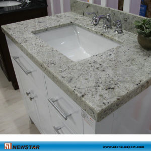 China Kashmir White Granite Bathroom Vanity Top China Granite