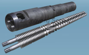 Conical Twin Screw Barrel for PVC Pipe Extrusion Screw Barrel Double Screws pictures & photos