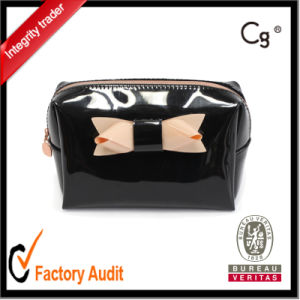 Fashion PU Cosmetic Bag with Bowknot pictures & photos