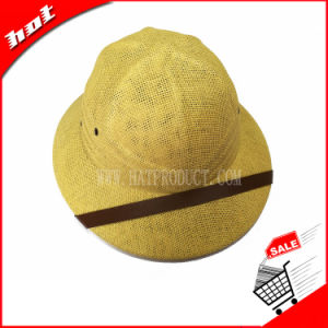 Promotional Helmet Hat Paper Straw Hat pictures & photos