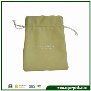 Fashion Eco-Friendly Yellow Drawstring Velvet Gift Bag pictures & photos