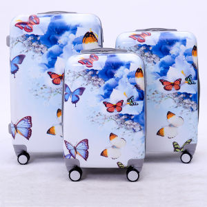 Beatiful Printing Butterfly Trolley Case, ABS+PC Luggage
