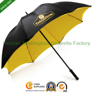 Double Layer Canopy Vented Golf Umbrella with Printed Logos (GOL-0030FWT)