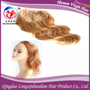 Highlight Color Full Lace Wig Human Hair Wig with PU Edge (WBWB-A730)