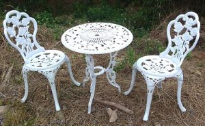 (HC GF D56) Casting Aluminium White Color Butterfly Garden Furniture