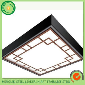 201 Mirror Etching 304 Stainless Steel Sheet Decorative Ceiling Plate for Elevator Decoration pictures & photos