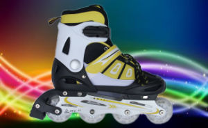 PU Wheels Yellow Roller Skate for Kids