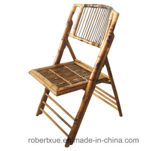 High Grade Bamboo Folding Chair with Ivory Cushion pictures & photos