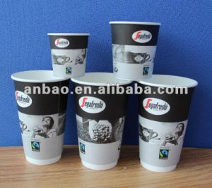 High Quality Double Wall Coffee Hot Drinking Paper Cups