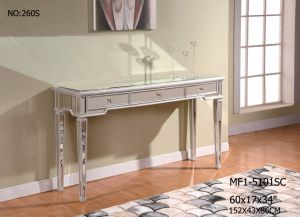 Console Table with 3 Drawer/ Clear Mirror pictures & photos
