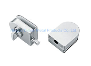 Dimon Sliding Glass Door Lock Double Door Single Cylinder Central Lock with Knob (DM-DS 65-8B)