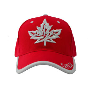 Six Panel Canada Baseball Cap with Special Bill (GKA01-F00066) pictures & photos