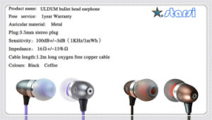 Fashion Bullet Metal Earphone