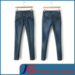 Women High Waist Trousers Denim Skinny Jean (JC1333) pictures & photos