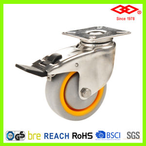 100mm Stainless Steel Ball Bearing TPR Wheel Caster (P114-34EA100X30) pictures & photos