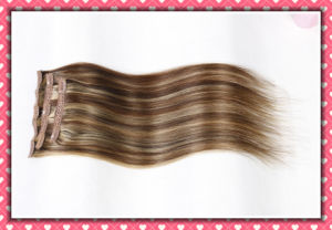 European Straight Human Remy Hair Clip in Extensions20 pictures & photos