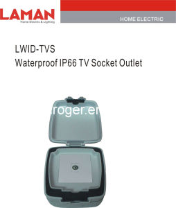 LWIPD-TVS IP65 Waterproof TV Socket Outlet