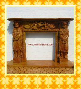 Granite and Marble for Fireplace, Fireplace Mantel, Carving Stone Fireplaces