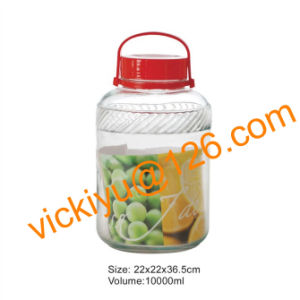 10L Fruit Wine Glass Jars with Red Plastic Cap, Fruit Wine Glass Bottles