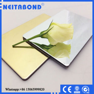 14 Years Manufacturer Gold / Silver Mirror Aluminum Composite Panel with Competitive Price pictures & photos