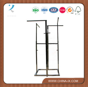 Customized Chrome 4 Way Rolling Clothes Stand Straight Arm pictures & photos